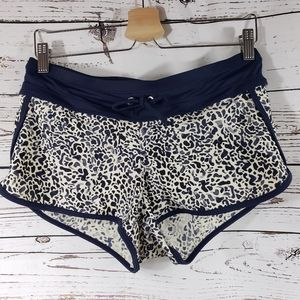 Athleta Animal Print Navy & White Athletic Shorts